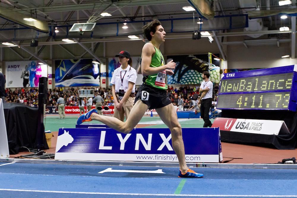 New Balance Indoor Grand Prix track meet: Junior Boys Mile, Jay Navin