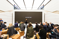 © Licensed to London News Pictures. 13/10/2016. Apple store in Regent Street is unveiled at a press preview with a new exterior and interior design concept by Foster + Partners.  Regent St was the first Apple store in Europe and has served over 60 million customers over the past 12 years.<br /> London, UK. Photo credit: Ray Tang/LNP