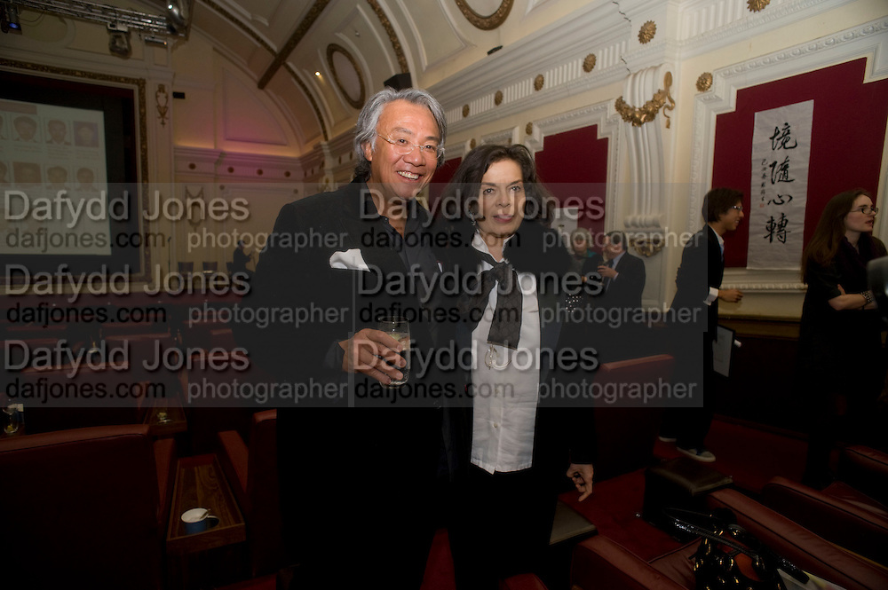 DAVID TANG; BIANCA JAGGER, David Tang and Nick Broomfield host  a reception and screening of Ghosts. On the Fifth anniversary of the Morecambe Bay Tragedy to  benefit the Morecambe Bay Children's Fund. The Electric Cinema. Portobello Rd. London W11. 5 February 2009