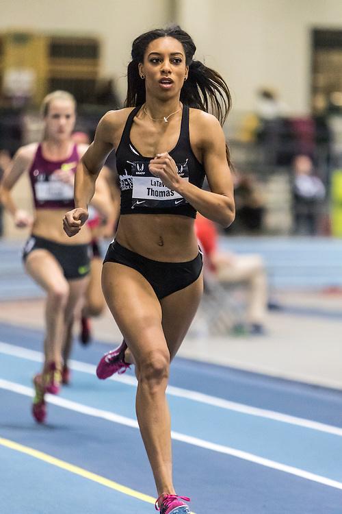USATF Indoor Track & Field Championships: womens 600, LaTavia Thomas,