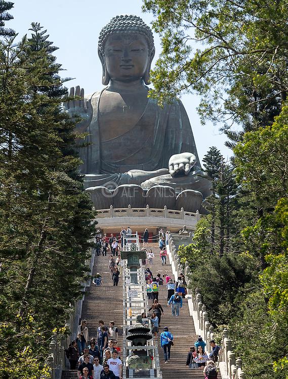 Tian Tan Buddah (Big Buddah) at Po Lin Monastery, Lantau Island, Hong Kong.