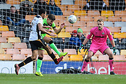Forest Green Rovers Liam Shephard(2) clears the ball during the EFL Sky Bet League 2 match between Port Vale and Forest Green Rovers at Vale Park, Burslem, England on 23 March 2019.
