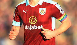 General view of Ben Mee of Burnley with the rainbow captains armband - Mandatory by-line: Jack Phillips/JMP - 26/11/2016 - FOOTBALL - Turf Moor - Burnley, England - Burnley v Manchester City - Premier League