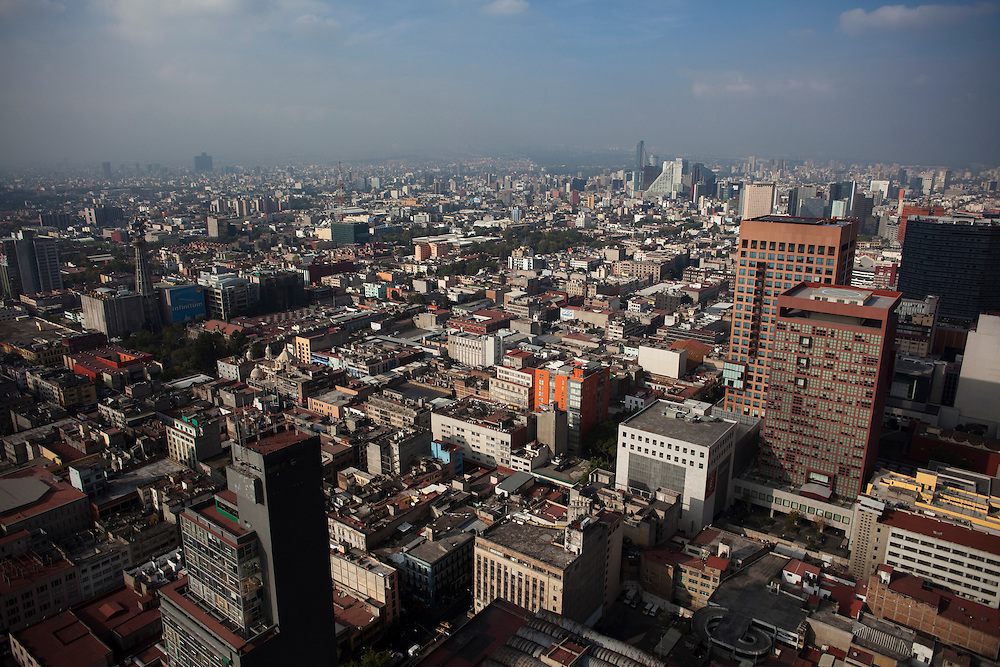 Mexico City as seen from the top of the Torre Latinoamericano.