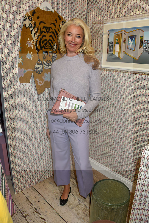 Tamara Beckwith at I Am Bateman: The Relations VIP Preview hosted by Selina Beaudry, Clemmie Myers and Natalie Tredgett at 2 Blenheim Crescent, London W11, England. 25 April 2019. <br /> <br /> ***For fees please contact us prior to publication***