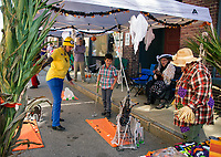 Berkshire Hathoway Verani Realty's mini golf course set up on Pump-Canal-ly during Pumpkin Fest Saturday afternoon.   (Karen Bobotas/for the Laconia Daily Sun)