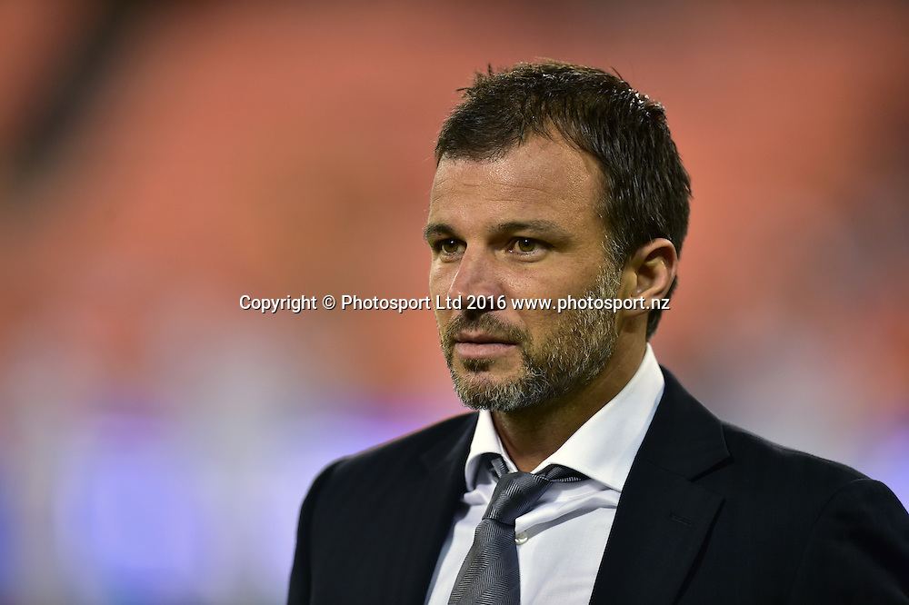 New Zealand All Whites head coach Anthony Hudson.<br /> Washington, D.C. - October 11, 2016: The U.S. Men's National team take on New Zealand in an international friendly game at RFK Stadium.<br /> Copyright photo: Brad Smith / www.photosport.nz