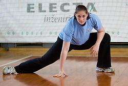 Neja Soberl at practice of Slovenian Handball Women National Team, on June 3, 2009, in Arena Kodeljevo, Ljubljana, Slovenia. (Photo by Vid Ponikvar / Sportida)