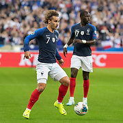 PARIS, FRANCE - September 10:  Antoine Griezmann #7 of France in action during the France V Andorra, UEFA European Championship 2020 Qualifying match at Stade de France on September 10th 2019 in Paris, France (Photo by Tim Clayton/Corbis via Getty Images)