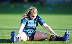Lauren Leatherland of Worcester Valkyries warms up- Mandatory by-line: Nizaam Jones/JMP - 01/12/2018 - RUGBY - Sixways Stadium - Worcester, England - Worcester Valkyries v Saracen Women- Tyrrells Premier 15s
