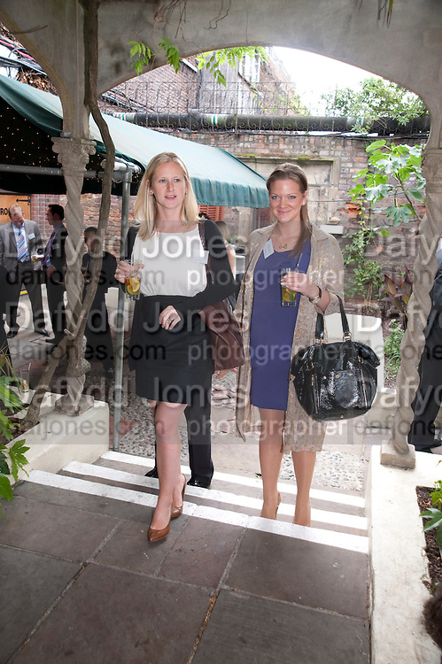 LIZZIE MORRISON; ALICE JONSDOTTIR FERRIER, Archant Summer party. Kensington Roof Gardens. London. 7 July 2010. -DO NOT ARCHIVE-© Copyright Photograph by Dafydd Jones. 248 Clapham Rd. London SW9 0PZ. Tel 0207 820 0771. www.dafjones.com.