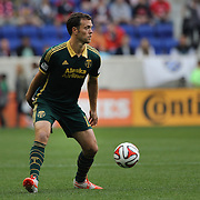 Jack Jewsbury, Portland Timbers, in action during the New York Red Bulls Vs Portland Timbers, Major League Soccer regular season match at Red Bull Arena, Harrison, New Jersey. USA. 24th May 2014. Photo Tim Clayton