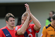 York City midfielder Luke Summerfield during the Sky Bet League 2 match between Newport County and York City at Rodney Parade, Newport, Wales on 5 September 2015. Photo by Simon Davies.