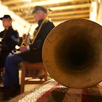 The 5th U.S. Infantry Regiment Band (circa the Civil War era) - lovingly depicted by the New Mexico Territorial Brass Band gets ready for a grand concert during the Civil War Reenactment at El Rancho De Las Golondrinas.