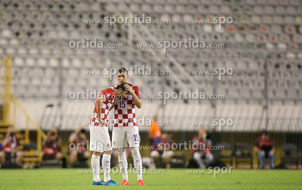 12.06.2015, Stadion Poljud, Split, CRO, UEFA Euro 2016 Qualifikation, Kroatien vs Italien, Gruppe H, im Bild Darijo Srna, Ante Rebic // during the UEFA EURO 2016 qualifier group H match between Croatia and and Italy at the Stadion Poljud in Split, Croatia on 2015/06/12. EXPA Pictures &copy; 2015, PhotoCredit: EXPA/ Pixsell/ Igor Kralj<br /> <br /> *****ATTENTION - for AUT, SLO, SUI, SWE, ITA, FRA only*****