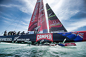 ETNZ and Luna Rossa practice racing day two