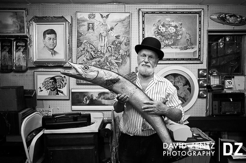 Artist George Jovellas in his studio in Boston, Mass.