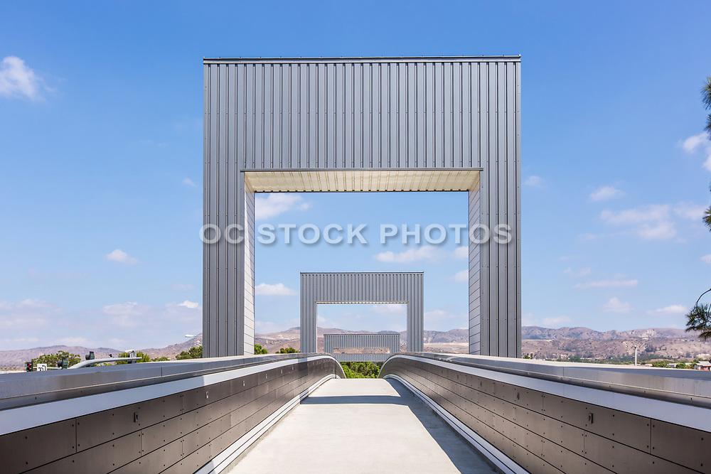 Stainless Steel Modular Pedestrian Bridge in Irvine