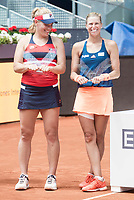 Hungarian Timea Babos and czech Andrea Hlavackova during Mutua Madrid Open Tennis 2017 at Caja Magica in Madrid, May 13, 2017. Spain.<br /> (ALTERPHOTOS/BorjaB.Hojas)