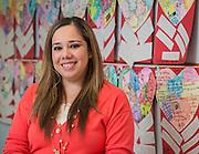 Alejandra Mendoza poses for a photograph at Lantrip Elementary School, February 12, 2015.