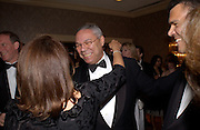 Colin Powell, Bloomberg Reception, Washington Correspondents dinner, Washington Hilton, 26 April 2003. © Copyright Photograph by Dafydd Jones 66 Stockwell Park Rd. London SW9 0DA Tel 020 7733 0108 www.dafjones.com