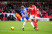 Romaine Sawyers of Walsall FC during the Sky Bet League 1 match between Walsall and Wigan Athletic at the Banks's Stadium, Walsall, England on 20 February 2016. Photo by Mike Sheridan.