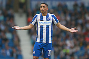 Brighton & Hove Albion winger Anthony Knockaert during the EFL Sky Bet Championship match between Brighton and Hove Albion and Brentford at the American Express Community Stadium, Brighton and Hove, England on 10 September 2016. Photo by Bennett Dean.