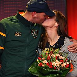 20080214: Athletics - Reception of Slovenian triple jumper Marija Sestak