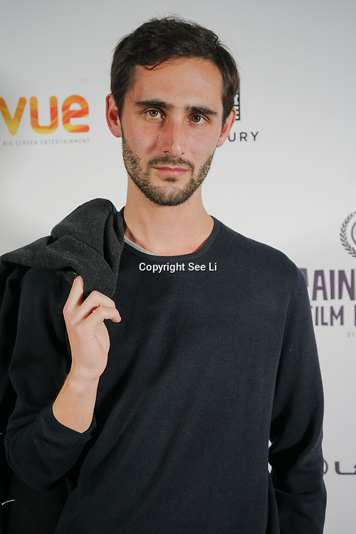 London, England, UK. 28th September 2017.Kasper Wind actor of Noble Earth attend Raindance Film Festival Screening at Vue Leicester Square, London, UK.