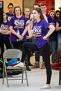 "Town of Wallkill, New York -   A Washingtonville High School student sings a song from ""Once Upon A Mattress"" during the Orange County Arts Council's All-County High School Musical Showcase and Arts Display at the Galleria at Crystal Run on Feb. 27, 2016."