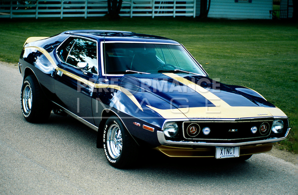 1973 Amc Javelin Amx Performance Image Quality Stock