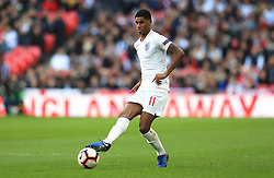 England's Marcus Rashford during the UEFA Nations League, Group A4 match at Wembley Stadium, London. PRESS ASSOCIATION Photo. Picture date: Sunday November 18, 2018. See PA story SOCCER England. Photo credit should read: Mike Egerton/PA Wire. RESTRICTIONS: Use subject to FA restrictions. Editorial use only. Commercial use only with prior written consent of the FA. No editing except cropping.