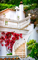 """Positano villa stairs and flowers""...<br />