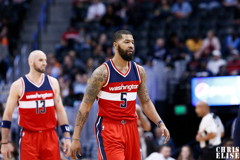 08 March 2017: Washington Wizards forward Markieff Morris (5) is seen during the Washington Wizards 123-113 victory over the Denver Nuggets, at the Pepsi Center, Denver, Colorado, USA.