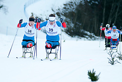 MURYGIN Grigory, RUS, BYCHENOK Alexey at the 2014 IPC Nordic Skiing World Cup Finals - Sprint