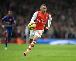 Arsenal's Alex Oxlade-Chamberlain in action. - Photo mandatory by-line: Alex James/JMP - Mobile: 07966 386802 - 22/11/2014 - Sport - Football - London - Emirates Stadium - Arsenal v Manchester United - Barclays Premier League