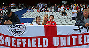 Young England fans during the Euro 2016 Group B match between England and Wales at Stade de Bollaert-Delelis, Lens Agglo, France on 16 June 2016. Photo by Phil Duncan.