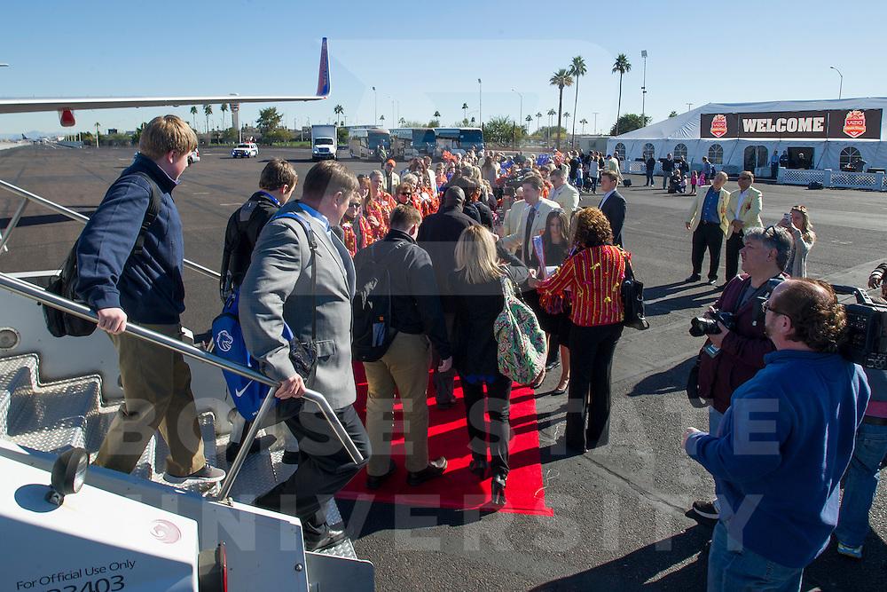 Fiesta Bowl team arrival, John Kelly photo