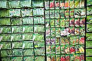 Display vegetable seed packets