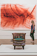 Theirs lots of money in chairs, 1994, by Tracey Emin and Greifbar 1, 2014, by Wolfgang Tillmans - The Great Spectacle runs concurrently to the Summer Exhibition and tells the story of the annual show by featuring highlights from the past 250 years.