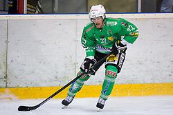 Linus Lundström of EHC Bregenzerwald during 5th game of final INL league ice hockey match between HK Playboy Slavija and EHC Bregenwald at Dvorana Zalog, on April 3, 2013, in Ljubljana, Slovenia. (Photo by Matic Klansek Velej / Sportida)