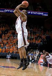 Virginia Cavaliers forward Adrian Joseph (30) shoots a three pointer against Longwood.  The Virginia Cavaliers Men's Basketball Team defeated Longwood University 90-49 at the John Paul Jones Arena in Charlottesville, VA on February 13, 2007.