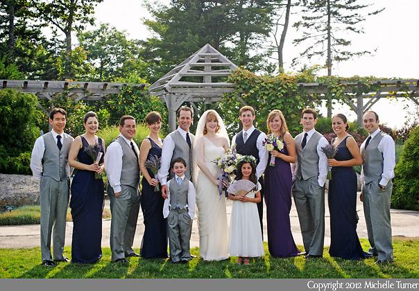 Coastal Maine Botanical Gardens Wedding.  Images by Maine Wedding Photographer Michelle Turner.