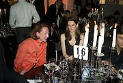 LORENZA CAVALLI AND VIOLET FRASER, Wallpaper Design Awards. Old Post Sorting Office. New Oxford St. London. 9 January 2008. -DO NOT ARCHIVE-© Copyright Photograph by Dafydd Jones. 248 Clapham Rd. London SW9 0PZ. Tel 0207 820 0771. www.dafjones.com.