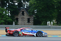 Joey Hand (USA) / Dirk Muller (DEU) / Sebastien Bourdais (FRA) #68 Ford Chip Ganassi Racing Team USA Ford GT,  during Le Mans 24 Hr June 2016 at Circuit de la Sarthe, Le Mans, Pays de la Loire, France. June 15 2016. World Copyright Peter Taylor/PSP. Copy of publication required for printed pictures.  Every used picture is fee-liable. http://archive.petertaylor-photographic.co.uk