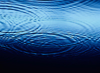 Ripples overlapping on Water close-up