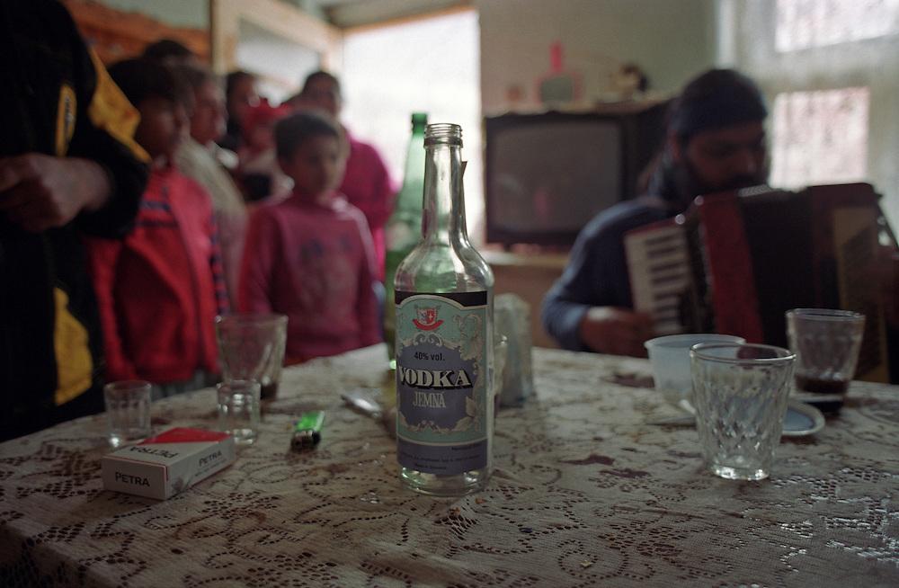 Jarovnice/Slovak Republic, Slovakia, SVK, 06.08.2003: Celebration in  JAROVNICE - the biggest Roma Settlement in eastern Slovakia.