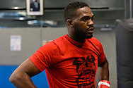 LONDON, ENGLAND, AUGUST 2, 2013: UFC light-heavyweight champion Jon Jones works out for the media inside Stars Gym in Battersea, London, England, on Friday, August 2, 2013 © Martin McNeil
