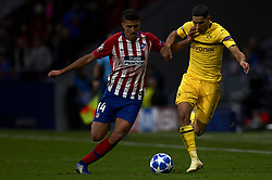 November 6, 2018 - Madrid, Spain - Rodri of Atletico Madrid and Achraf Hakimi of Borussia Dortmund during the Group A match of the UEFA Champions League between AtleticoLucien Favre of Borussia Dortmund Madrid and Borussia Dortmund at Wanda Metropolitano Stadium, Madrid on November 07 of 2018. (Credit Image: © Jose Breton/NurPhoto via ZUMA Press)