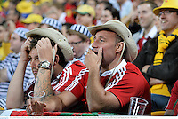 22 June 2013; British & Irish Lions supporters after Australia were awarded a late penalty. British & Irish Lions Tour 2013, 1st Test, Australia v British & Irish Lions, Suncorp Stadium, Brisbane, Queensland, Australia. Picture credit: Stephen McCarthy / SPORTSFILE